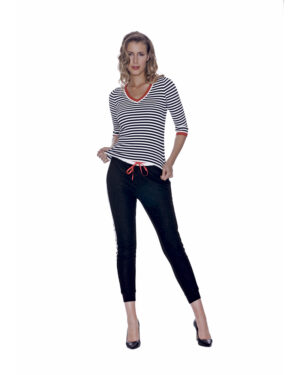 STRIPES V-NECK