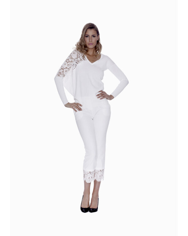 LACE-BACK TROUSERS