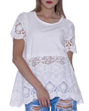 LACE OVER T-SHIRT