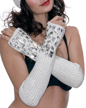 Long swarovski gloves