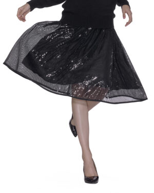 Skirt with paillettes