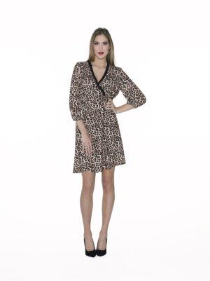 Crossed sequin dress