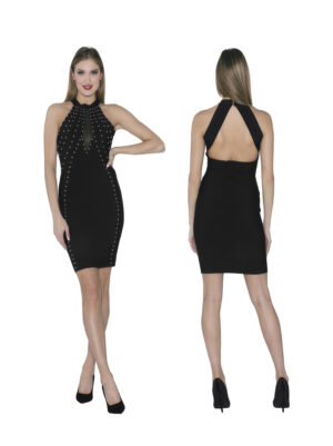 Bandage dress with studs