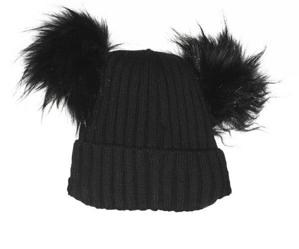 Cappello doppio pom-pom