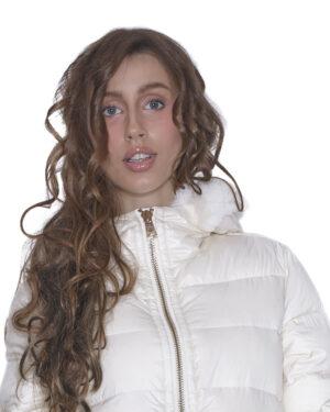 Piumino cappa tasche di pelo