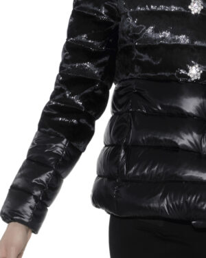 Short double breasted down jacket