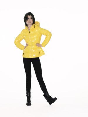 Short glossy downjacket
