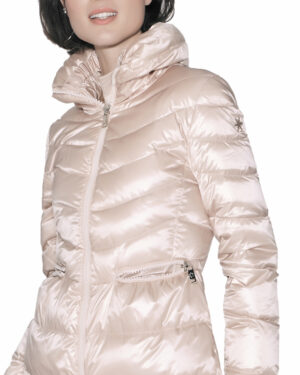 Long quilted downjacket