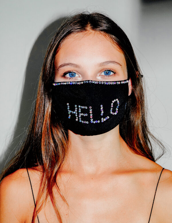 Mask hello strass
