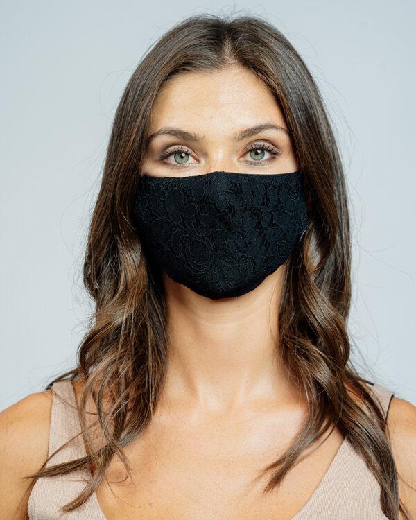 Mask pizzo nero