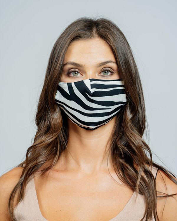 Mask stampa zebra