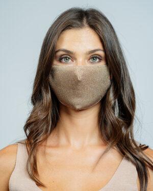 Mask lurex stretch bronzo