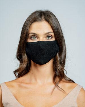 Mask lurex stretch nero