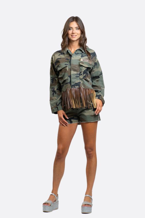 Camouflage Jacket With Fringes
