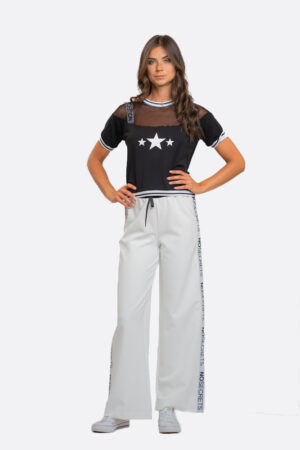 Wide-Leg Sport Pants
