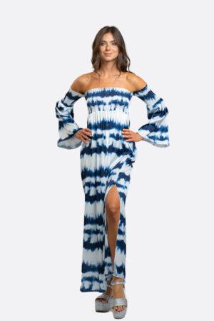 Shoulder-Less Long Dress