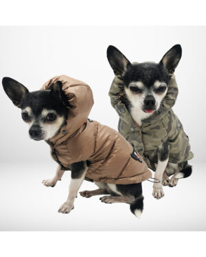 Reversible camouflage down jacket