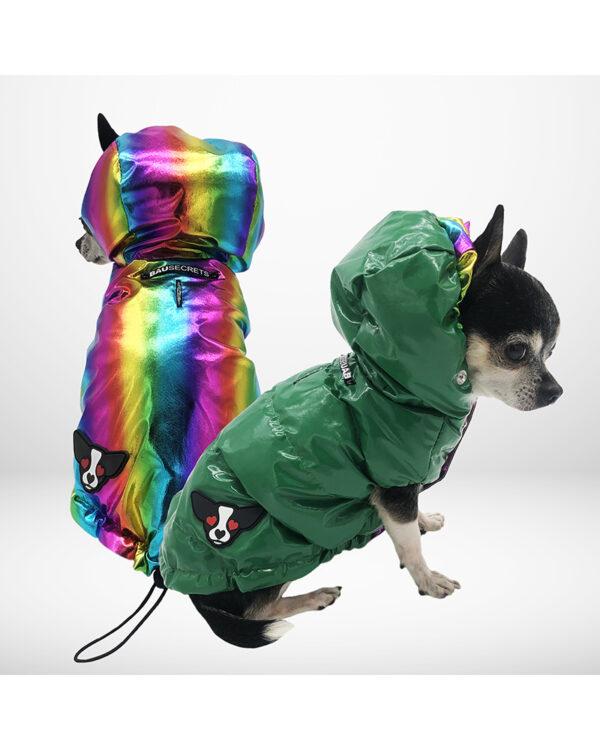 Reversible rainbow down jacket