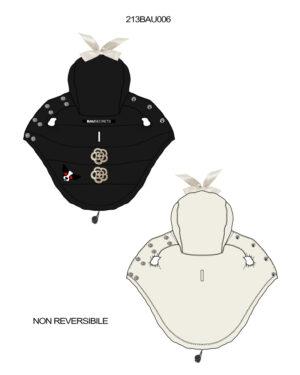 Reversible down jacket jewels