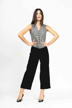 Pantalone con risvolto