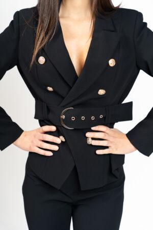 Giacca bottoni con cintura
