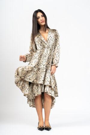 Long crossover dress