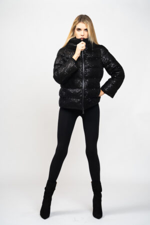Sequined down jacket